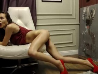 sellenia looks seductive rocking her amazingly slutty stockings and sexy tiny panties