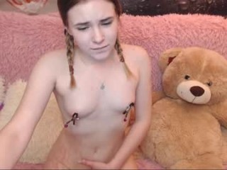 alisonlilbaby takes off her tiny panties to shamelessly penetrate her lusty little pussy with a dildo
