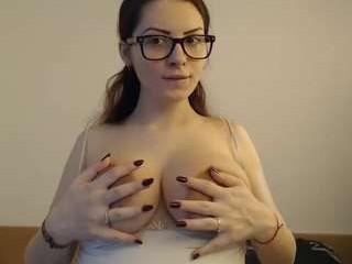julliajasmin has an ohmibod that lets you control her orgasms while she's shamelessly masturbating
